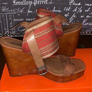 Lucky brand lapaloma platform wedge sandal